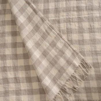 Anichini Hospitality Check Washable Linen Throws