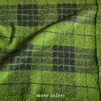 Flora Plaid Wool Blend Throw