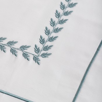 Anichini Hospitality Leaf Custom Embroidery Sheeting