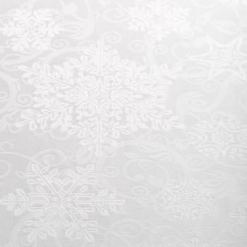 Anichini Hospitality Snowflakes Custom Jacquard Table Linens