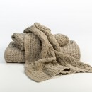 Anichini Adras Linen Waffle Weave Bath Linens In Natural