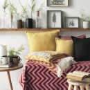 Anichini Hospitality Chevron Washable Cotton Blend Throws