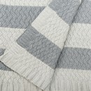 Anichini Hospitality KH08-022 Stripe Washable Cotton Knit Throws