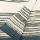 Anichini Hospitality Pearl Green Combo Washable Cotton Knit Throws