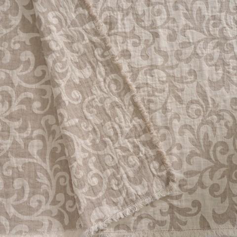 Anichini Hospitality Scroll Washable Linen Throws
