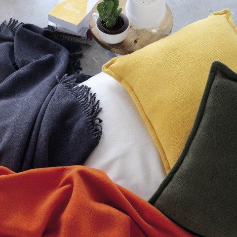 Anichini Hospitality Basics Plain Washable Cotton Blend Throws