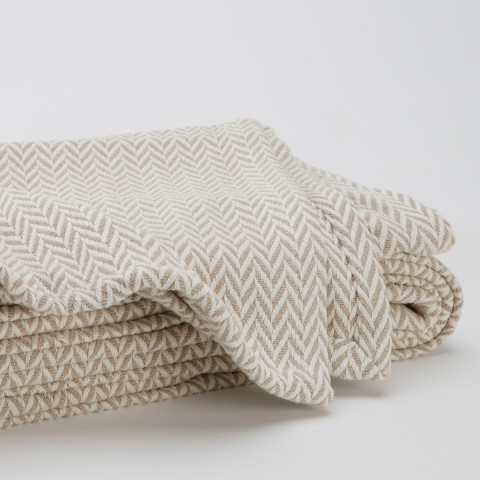 Anichini Chevron Portuguese Cotton Blankets