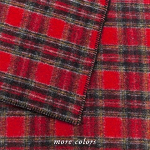 Anichini Hospitality Clara Plaid Washable Wool Blend Throws