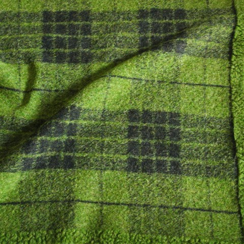 Anichini Hospitality Flora Plaid Washable Wool Blend Throws