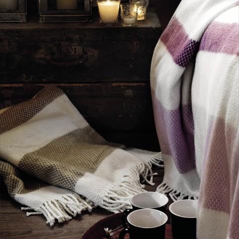 Anichini Hospitality Granite Washable Cotton Blend Throws