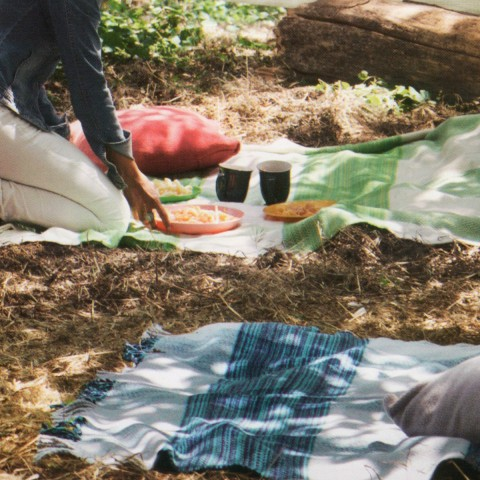 Anichini Hospitality Jaspe Washable Cotton Blend Throws