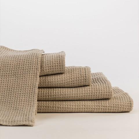 Anichini Linen Waffle Weave Bath Linens