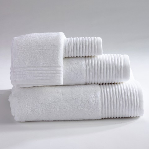 Anichini Hospitality Pleats Custom Terry Bath Towels