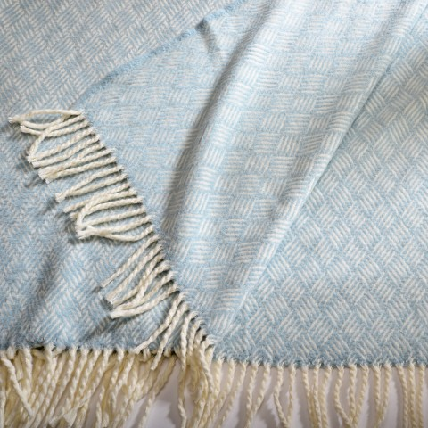 Anichini Hospitality Coralle Washable Cotton Blend Throws