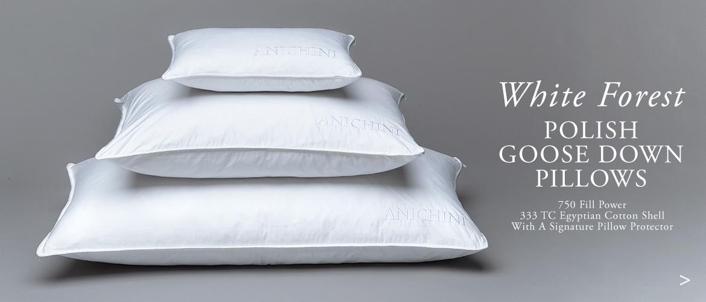 Anichini White Forest Luxury Polish Goose Down Pillows