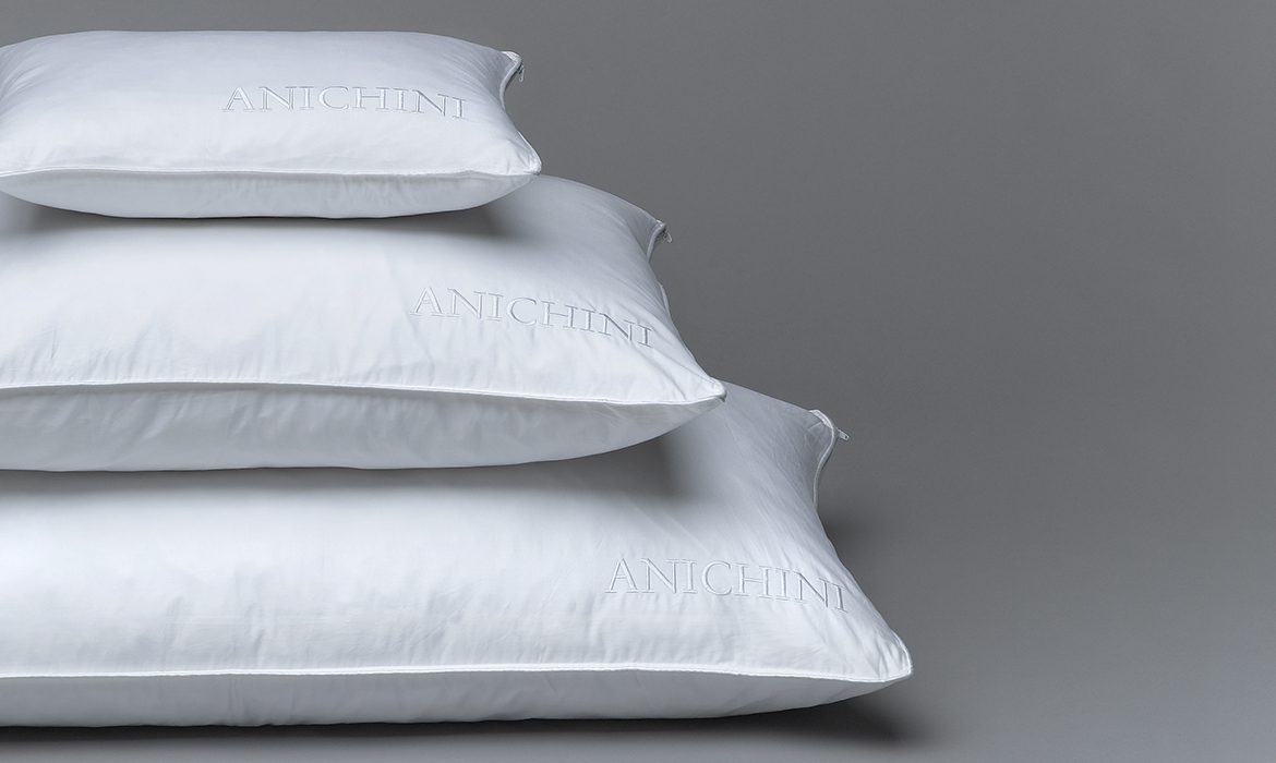 Anichini Snowflake Luxury Siberian Goose Down Pillows and Duvets