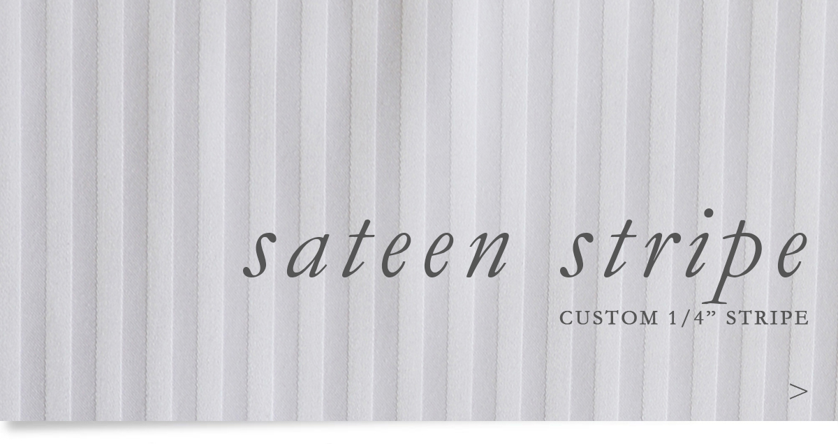 Custom Hospitality 1/4 Inch Sateen Stripe Sheeting