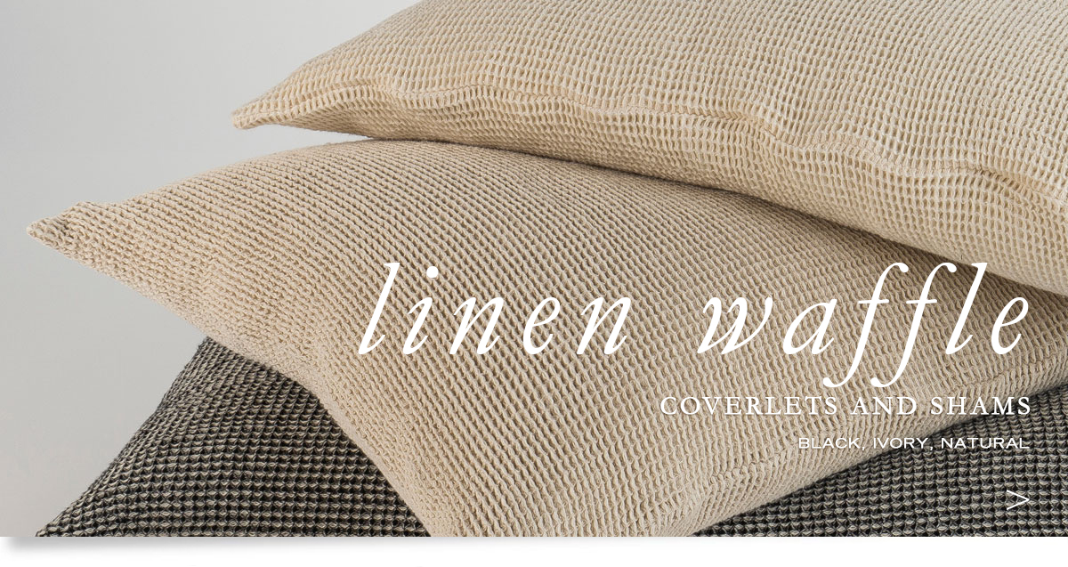 Custom Hospitality Top-Of-Bed - Linen Waffle Weave Bedcovers, Runners, And Pillow Shams