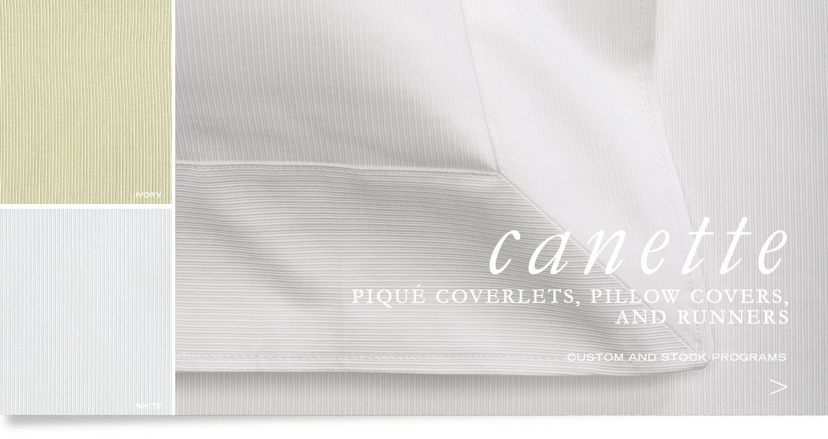 Custom Hospitality Top-Of-Bed - Canette Piqué Bedcovers, Runners, And Pillow Shams
