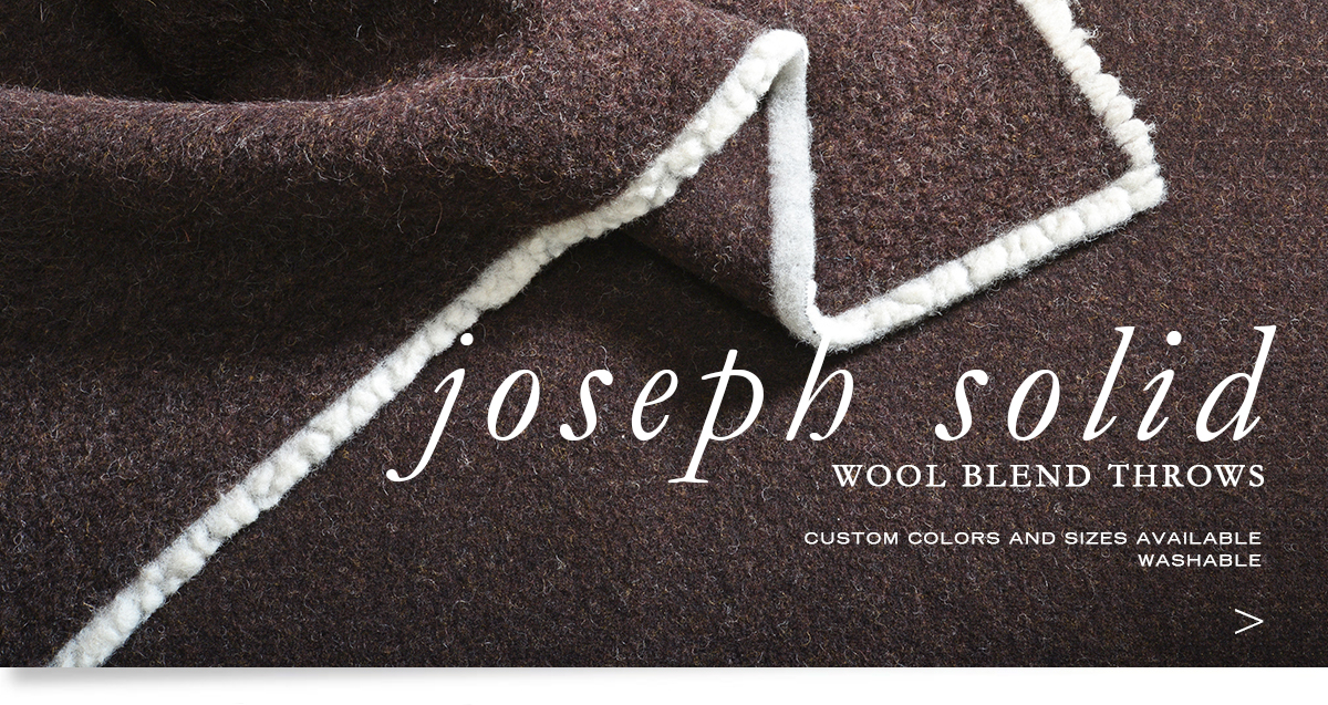 ANICHNI Hospitality Washable Throws - Joseph Solid Washable Wool  Blend Throws