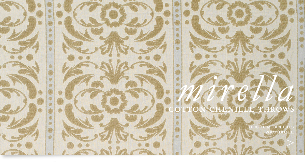 ANICHNI Hospitality Washable Throws - Mirella Washable Cotton Chenille Throws