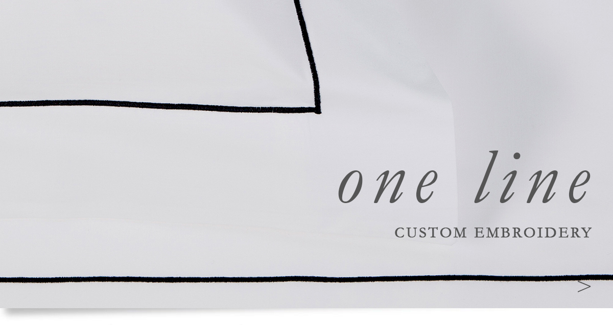 Custom Hospitality Sheeting With One Line Embroidery