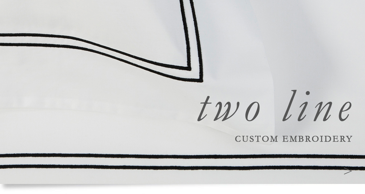 Custom Hospitality Sheeting With Two Line Embroidery