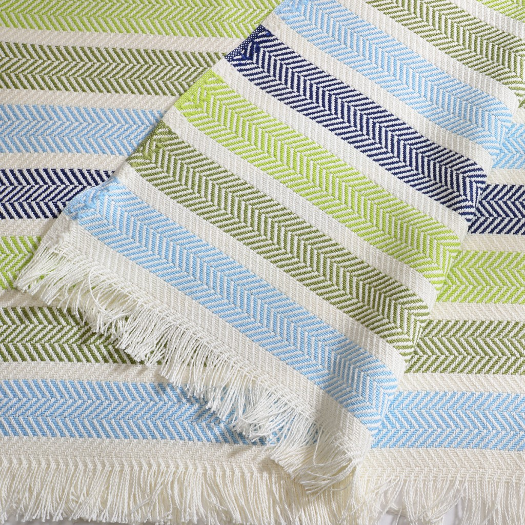 Washable Cotton Blend Ocean Throw
