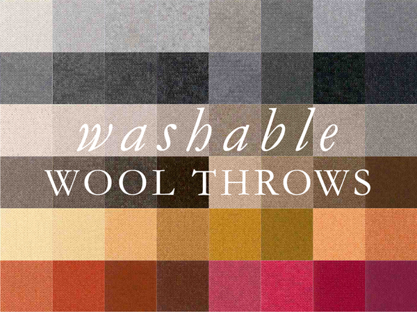 100% Wool Washable Throws