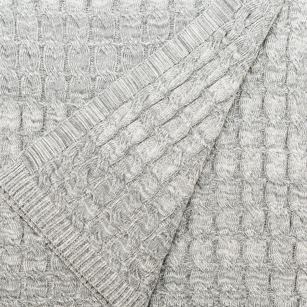 ANICHINI Darzi Cable Cotton Knit Throw For The Hospitality Market
