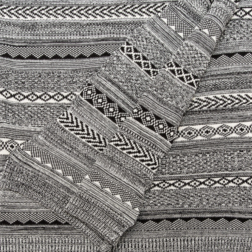 ANICHINI Mix & Match Cotton Knit Throw For The Hospitality Market