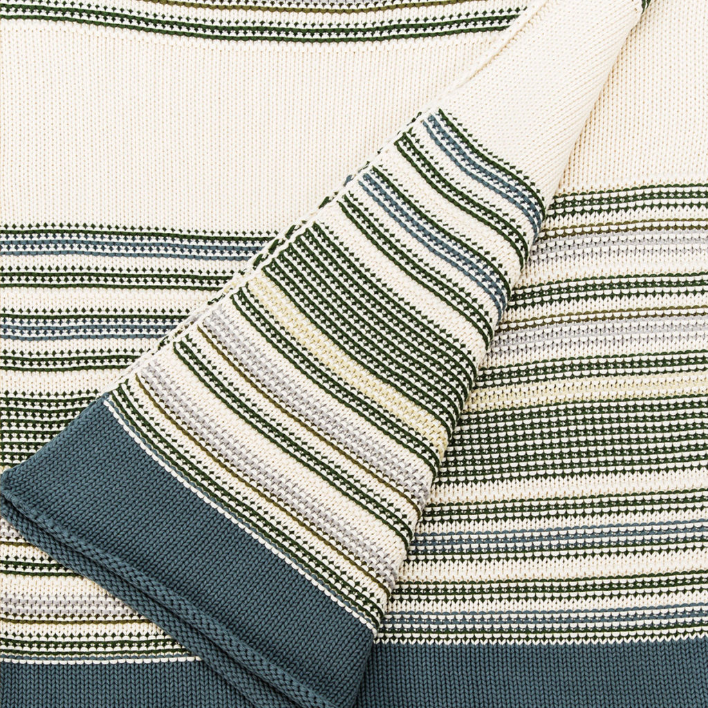 ANICHINI Pearl Green Combo Cotton Knit Throw For The Hospitality Market