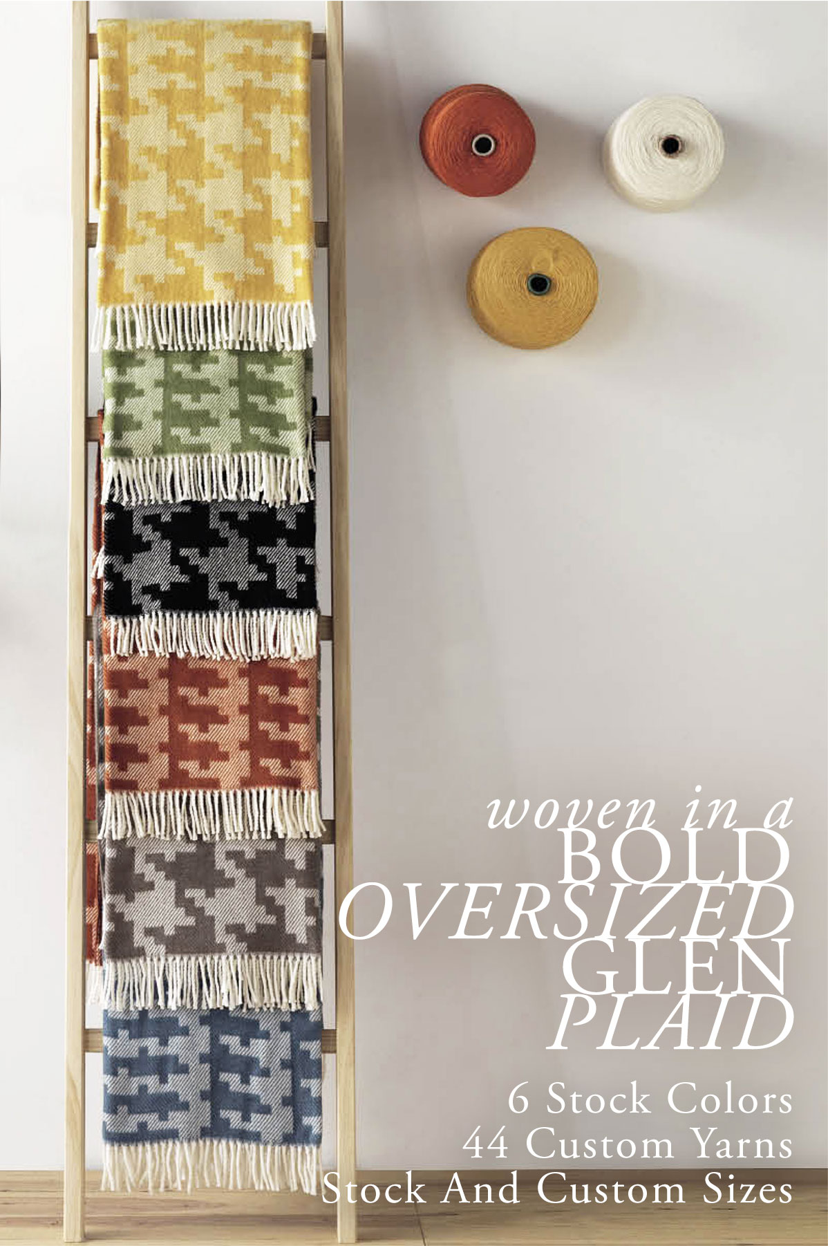 Glen Washable Cotton Blend Throws for Hospitality