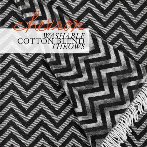 Chevron Washable Cotton Blend Throws for Hospitality